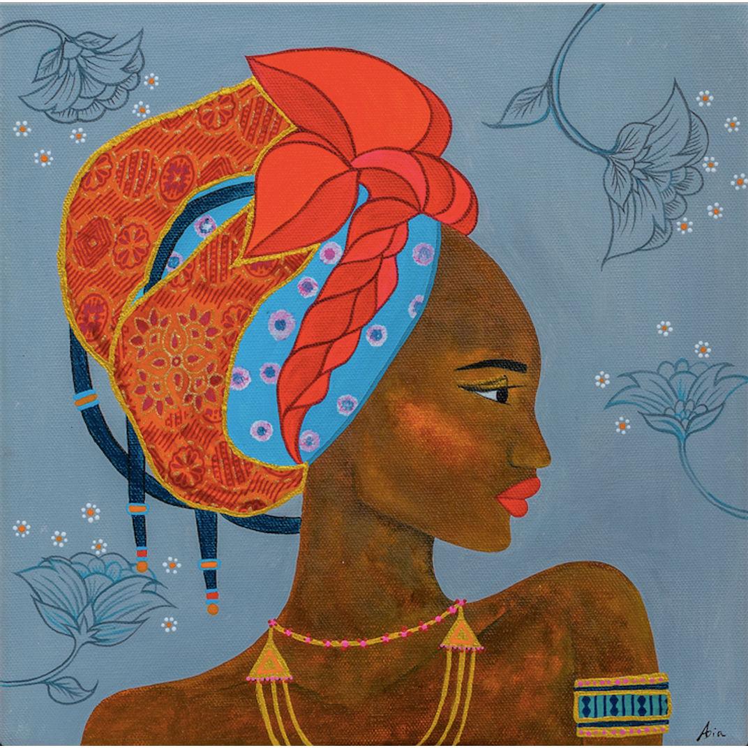 African Lady III by Asia Hillion Kvacova
