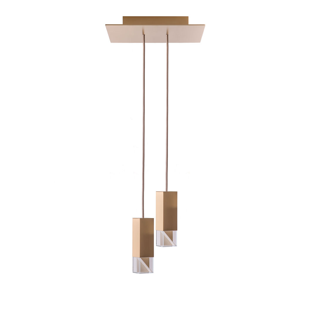 Lamp/One Brass Duet Chandelier by Formaminima