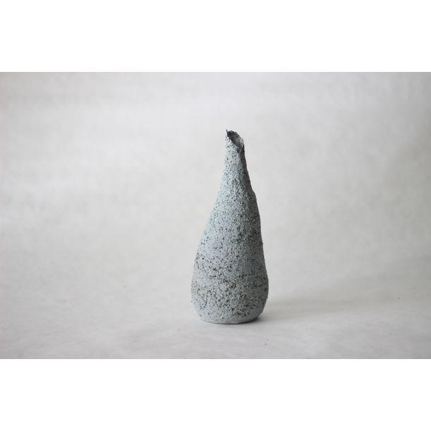 Terrazzo blue clay tall vase by Evgeniia Kazarezova