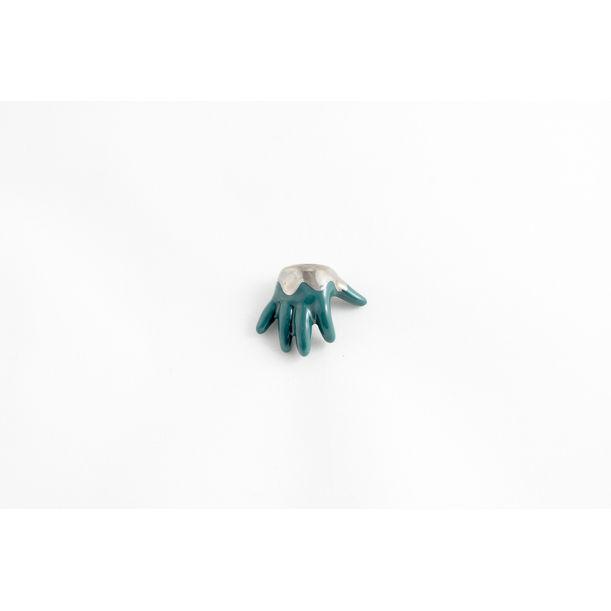 Dark Green & Platinum Baby Hand by Mari JJ Design