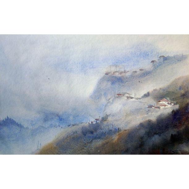 Foggy Mountain Village by Samiran Sarkar