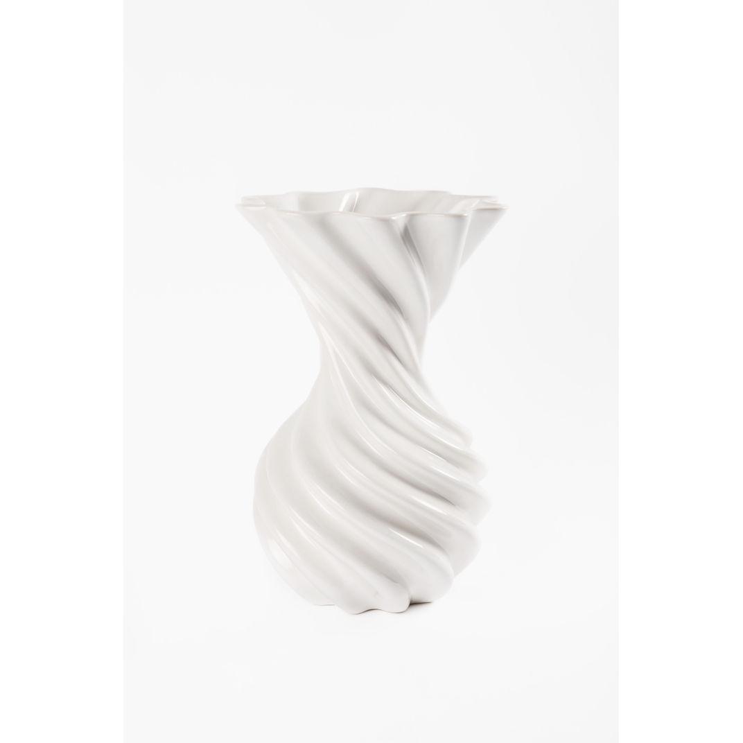 Decorative Ceramic Vase with White Glaze, Miss Jolie by Joel Escalona