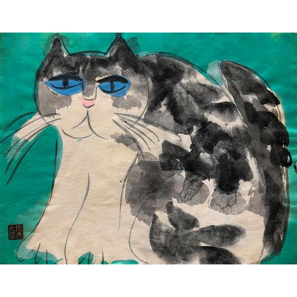 Grumpy Cat by Walasse Ting