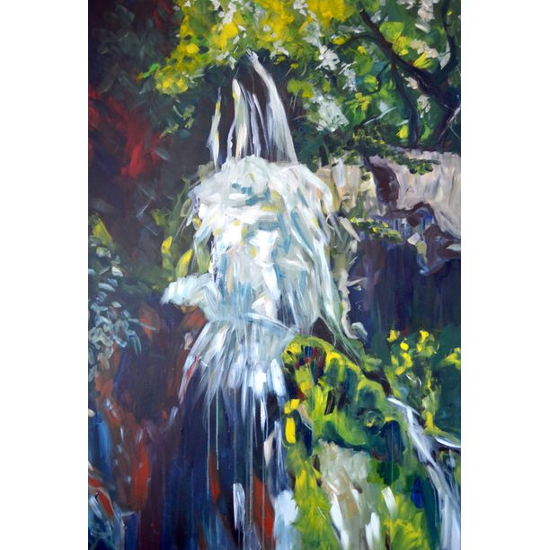 Being a waterfall by Linda Bachammar