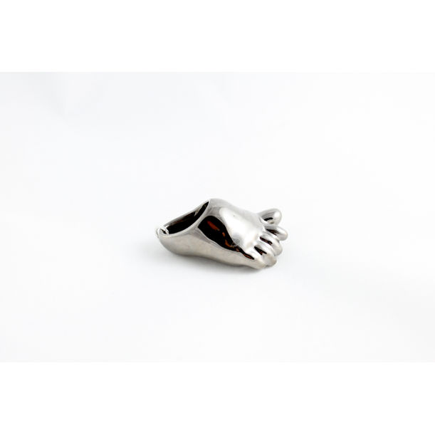 Platinum Baby Foot Pendant by Mari JJ Design