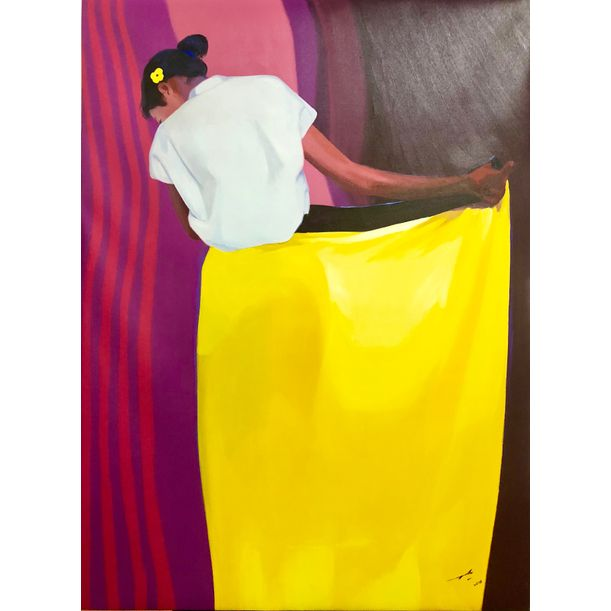 Woman Dressing # 1 by Maung Aw