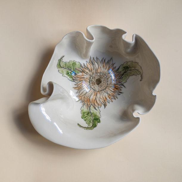 Sunflower Primavera Bowl by Maryia Virshych
