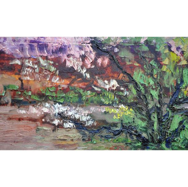 Spring. Apricot blossom by Olga Bezhina