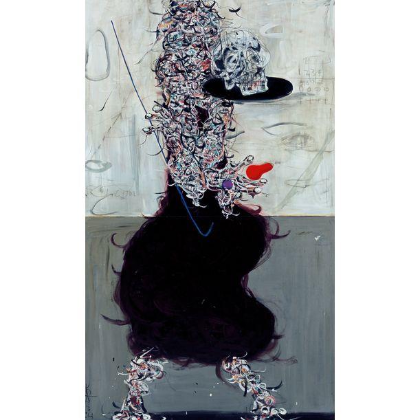 Gray Concrete Triptych - L by Ann Niu