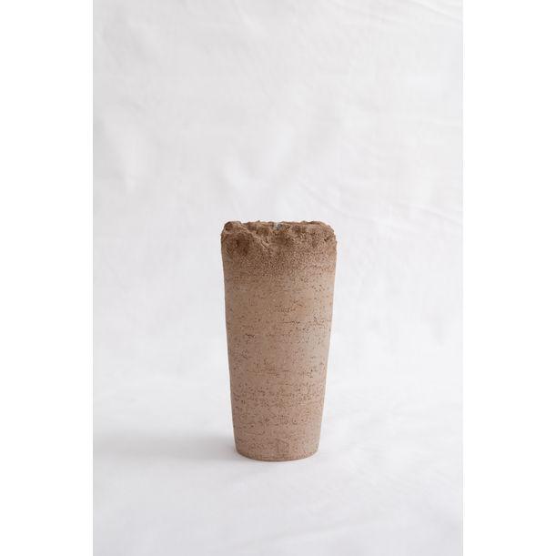 Light Brown Dome Vase by Evgeniia Kazarezova