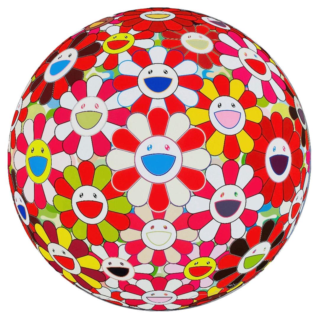Flower Ball (3-D) Goldfish Colours by Takashi Murakami