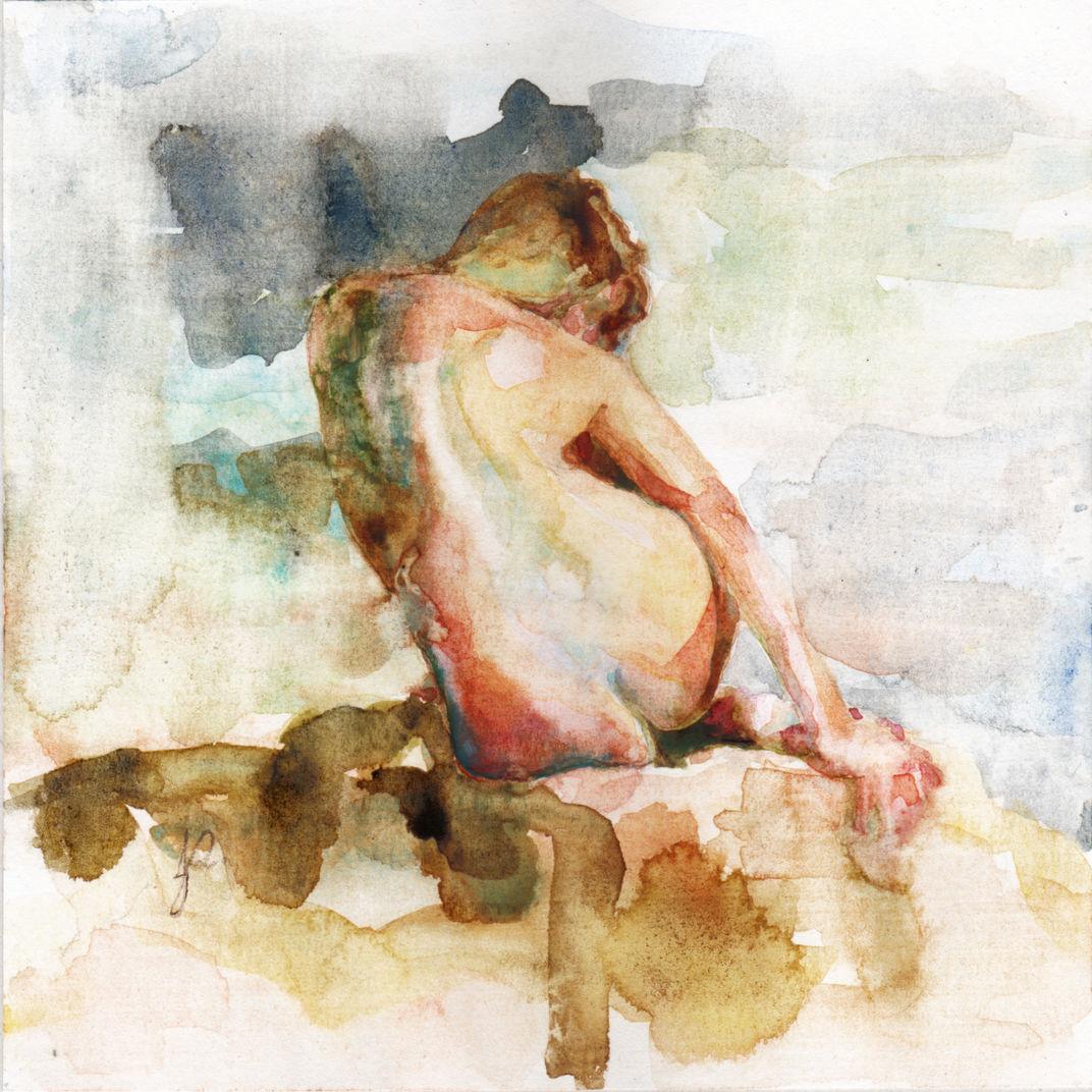 Watercolour Figure 3 by Jacqueline Gomez