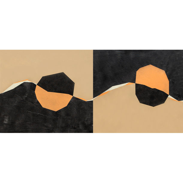 Diptych Contrast 2 by Catia Goffinet