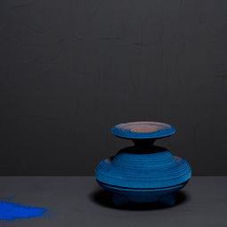 Blue Alchemy - Vase nr. 5 by Siba Sahabi