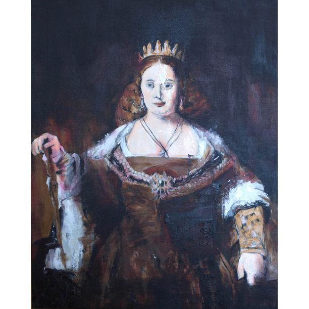 "Juno contemporary"" after Rembrandt by Tomoya"