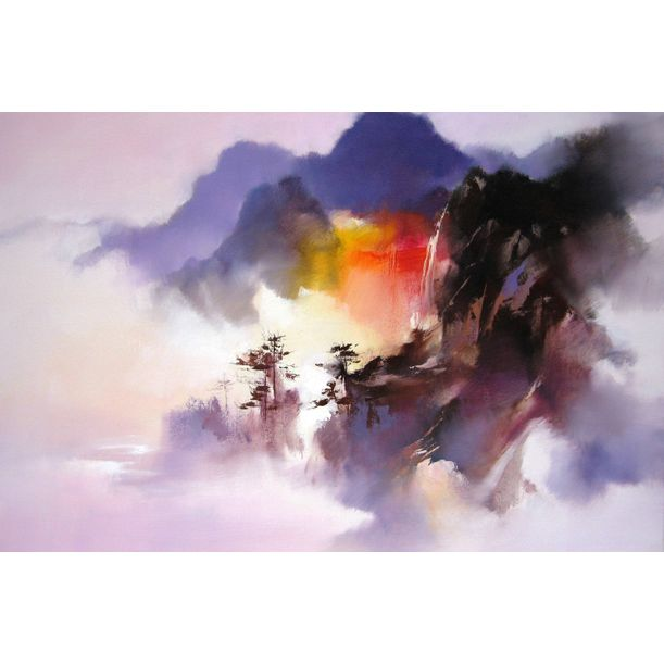 Falls Above the Clouds by Hong Leung