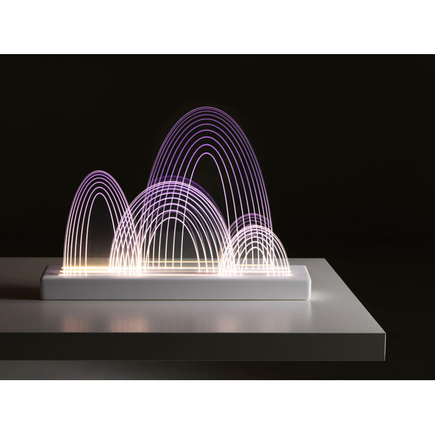 GUILIN-GRADIENT VIOLET Environment Cleansing Desk Lamp by SUGO