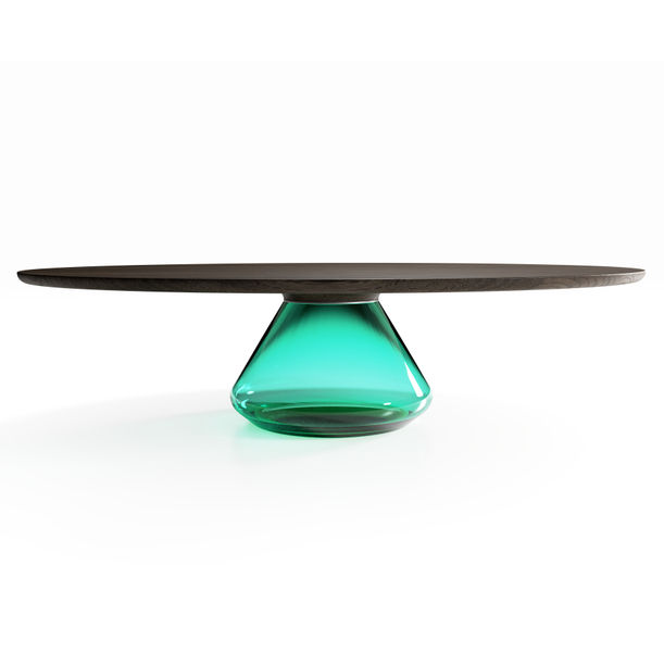 """Emerald Eclipse"" Contemporary Coffee Table by Grzegorz Majka"