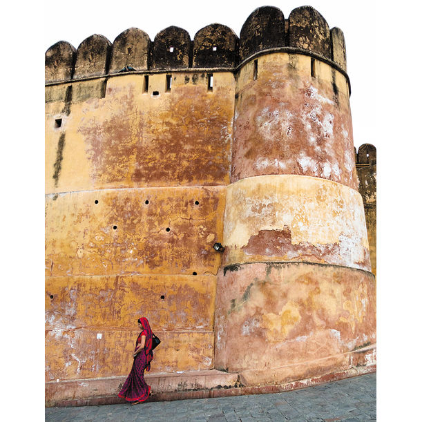 Woman in Red, Jaipur by Ty Mecham
