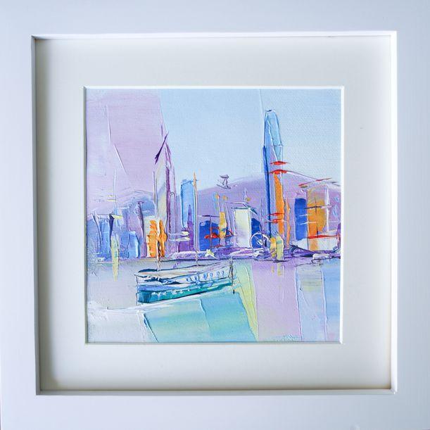 Calm Victoria Harbour, Hong Kong by Anna Salenko