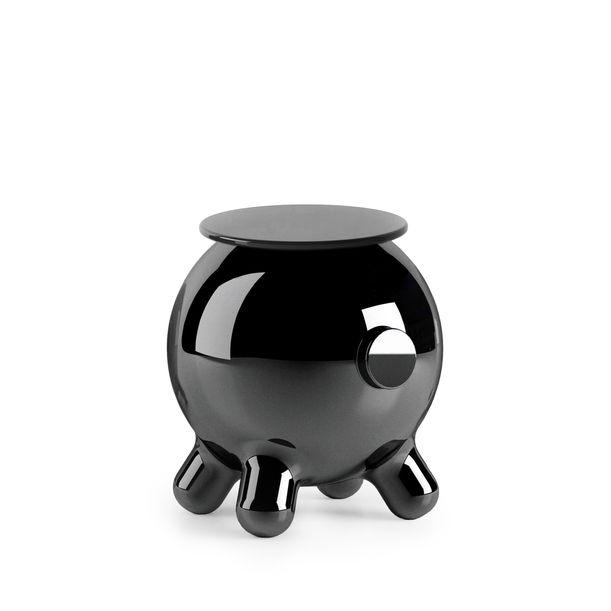 Pogo Black Side Table by Joel Escalona