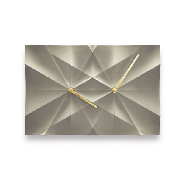 HOMER CONCEPT | Curve Origami Clock-grey by Elvis, Hsiu Ming Chang