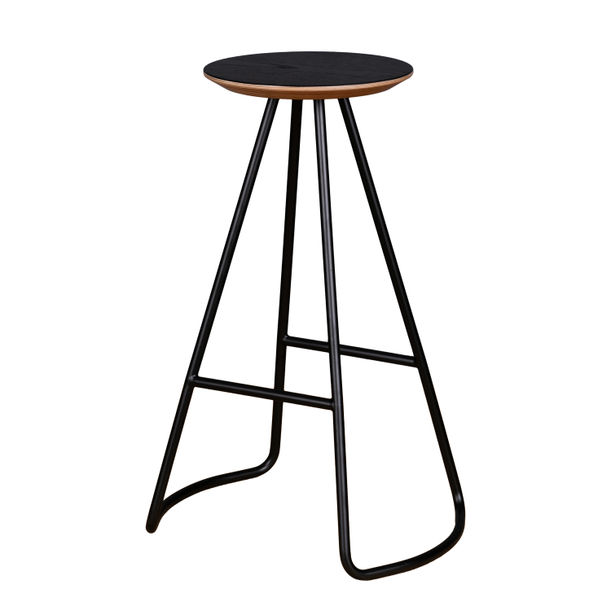 Sama High Stool | Black by Studio Kali by Fulden Topaloglu