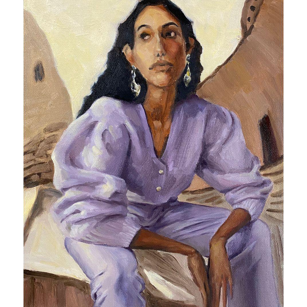 Woman in Purple by Yi Zhou. Zoe