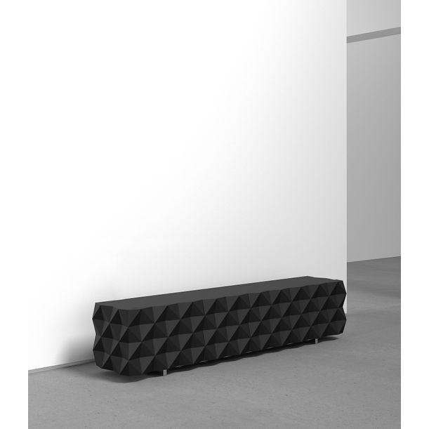 Geometric Black TV Cabinet from Rocky Collection by Joel Escalona