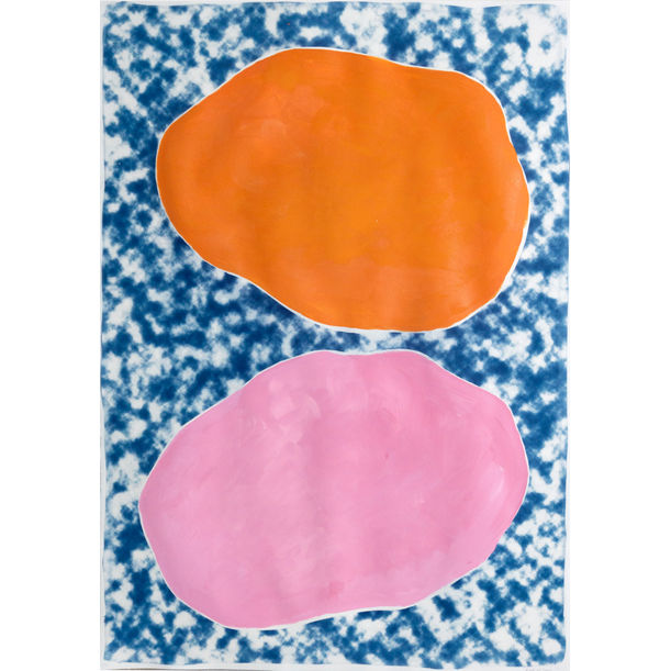 Pink and Orange Ovals on Clouds by Kind of Cyan