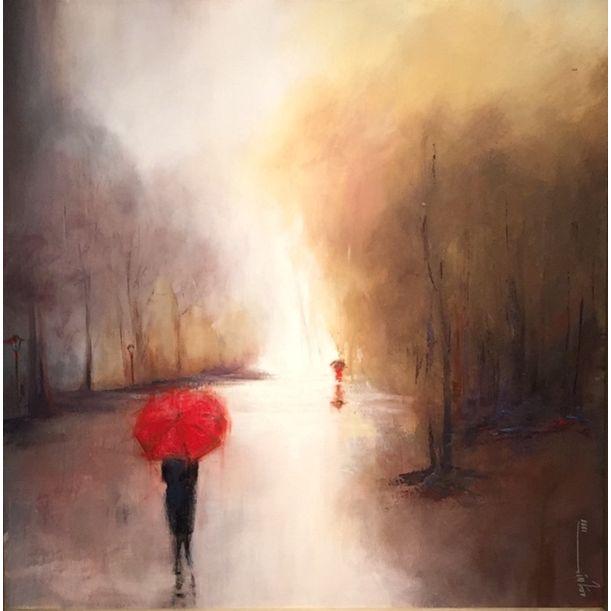 Red umbrella by Shirin Moinvaziri