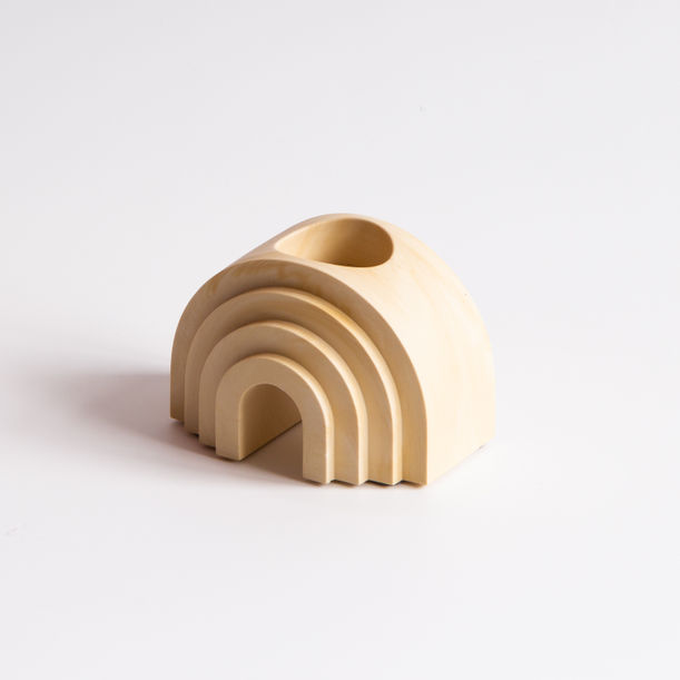 Scala Collection Arch Tealight + Candle Holder - Apricot by Extra&Ordinary Design