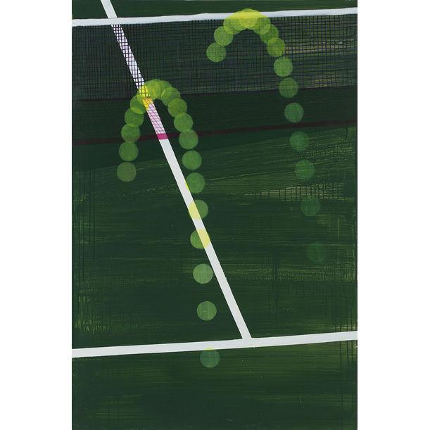 tennis court by Margot Shin