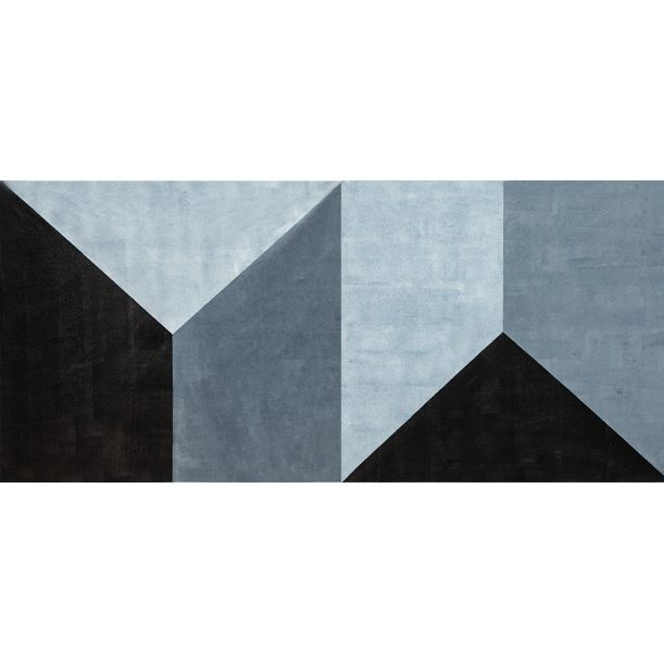 Geometric Shape Diptych by Catia Goffinet