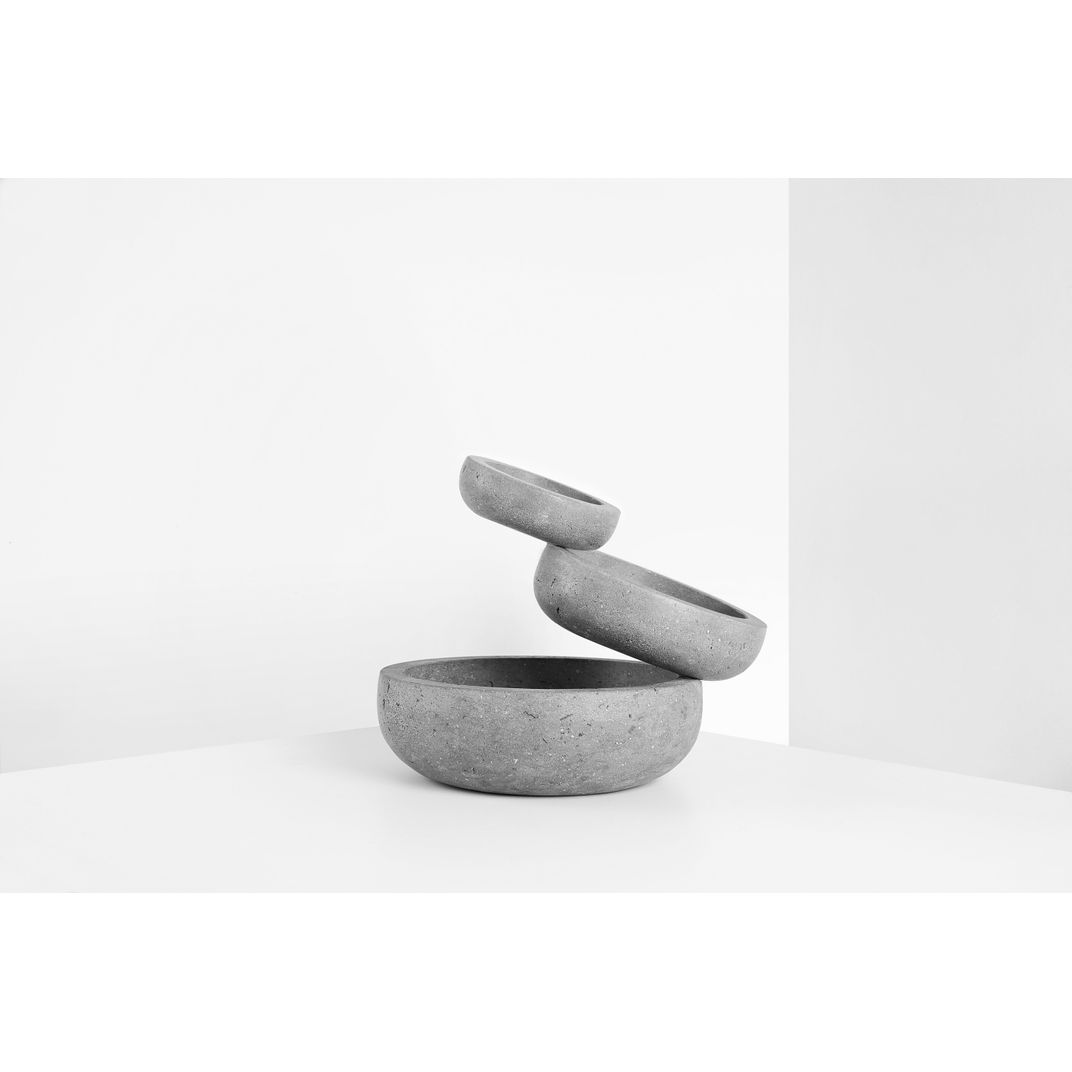 Balancing Stone Sculptural Bowl by Joel Escalona