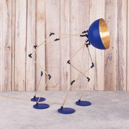 Arthropod lamp - BlueGold by Ghassan Salameh