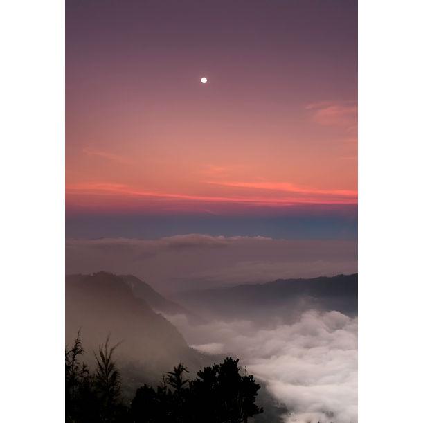 Moon over Sea of Clouds in Mt. Bromo by Jasper Resari
