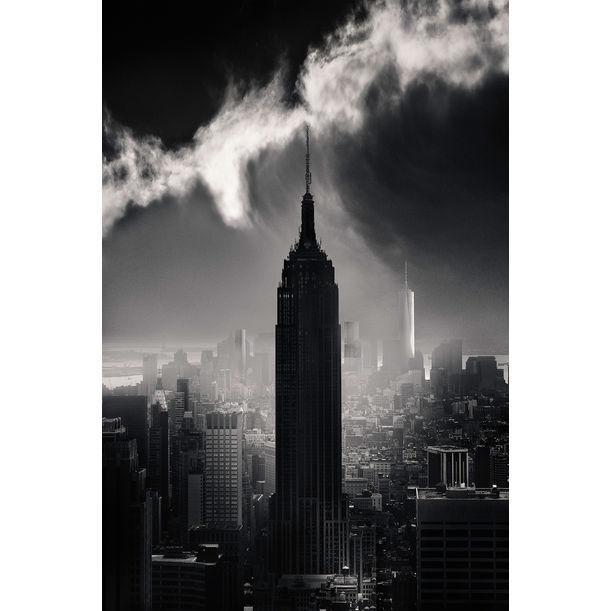 NYC Skyline - Wave Cloud by Allan Borebor