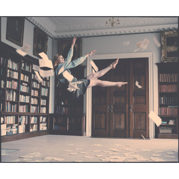 Emily Falling in Library by Vikram Kushwah