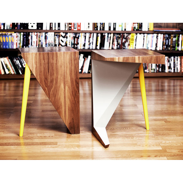 Cane Side Table by Fadi Sarieddine