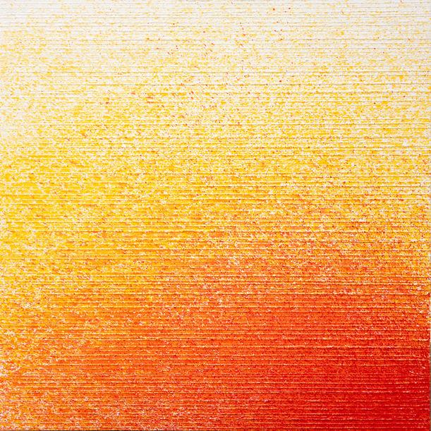 Red on ochre to white by Nestor Vinluan