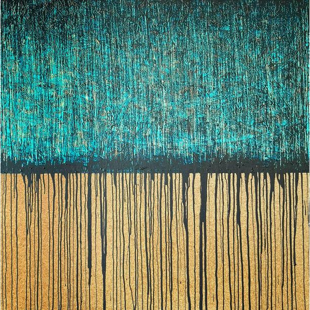 Blue No. 3 (On Cork) by Carla Sa Fernandes