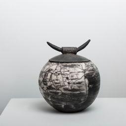Naked Raku ceramic vessel by Hala Matta