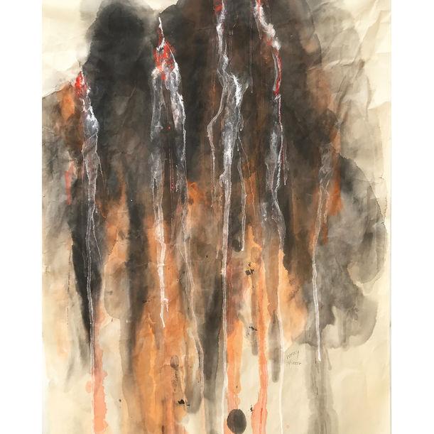 Sacred mountain waterfall II by Tan Kah Wah