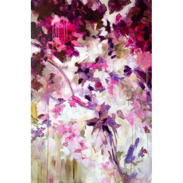 Pink pareidolia garden by Fabienne Monestier