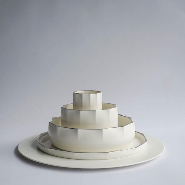 Blossom Platinum Show Plate Set by wohabeing x Luzerne