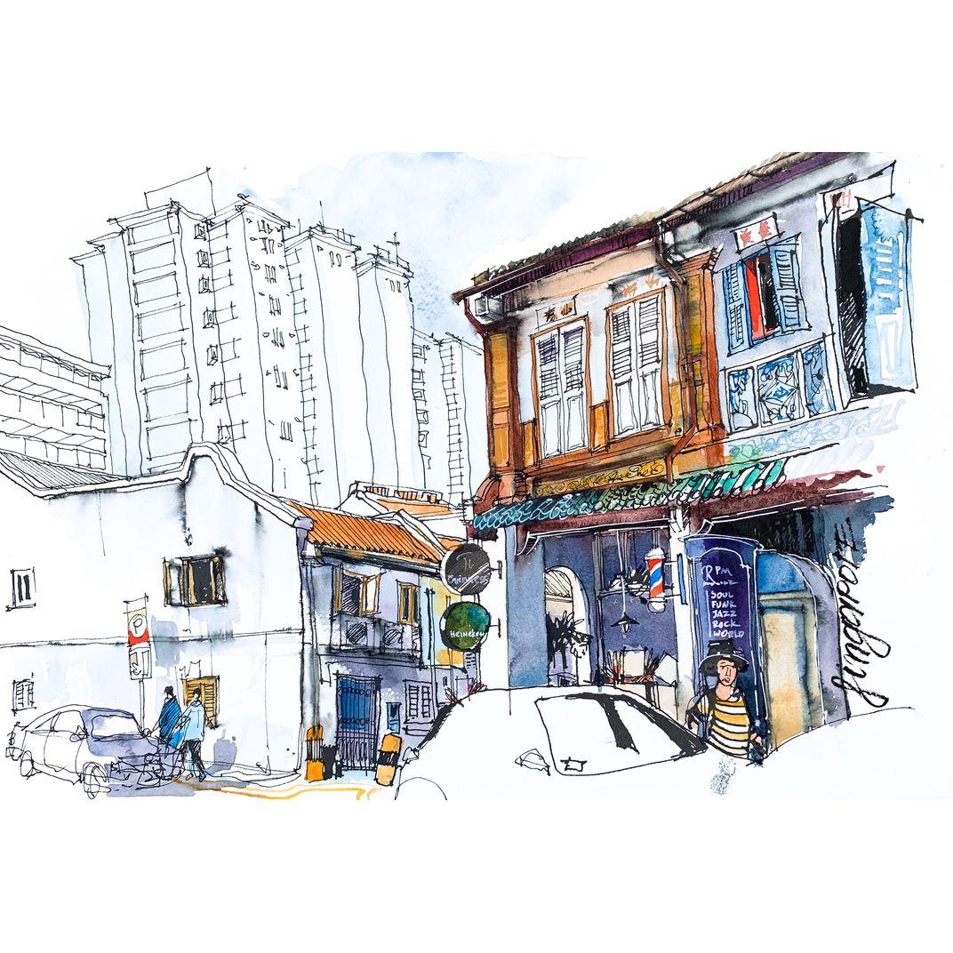 Singapore, Duxton Hill by Alena Kudriashova