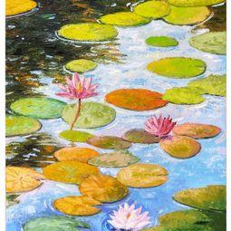 Autumn lake by Nam Tran