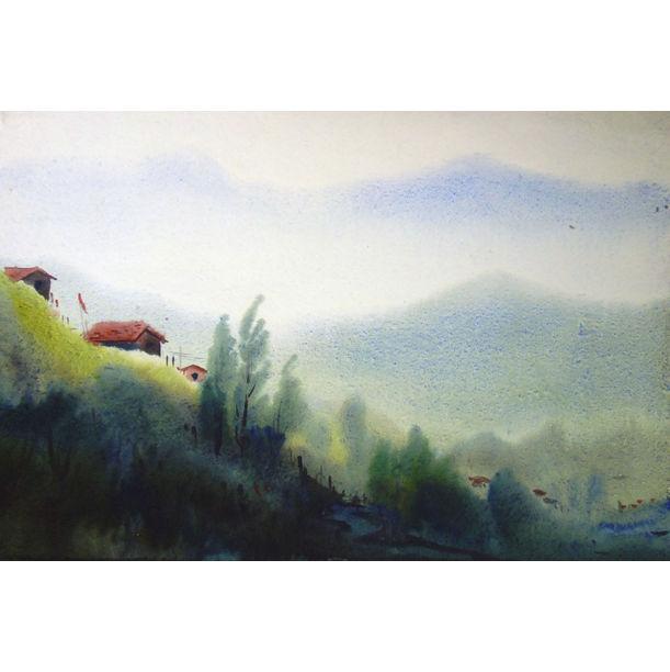 Beauty of Himalayan Village by Samiran Sarkar