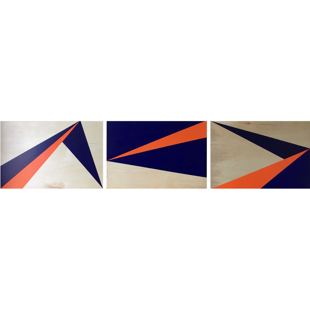Wrapping. Reflections. Unfolding. (Blue & Orange) by Jau Goh